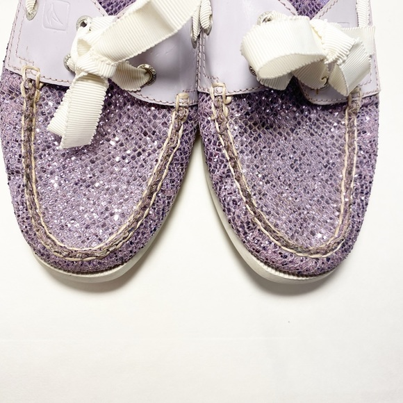 Bahama Sequined Boat Shoe Purple Sequence